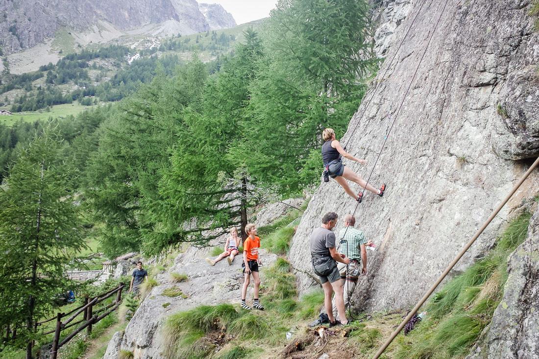 Esprisarvadzo, Avventura Valle d'Aosta, Escursioni Valle d'Aosta, arrampicata bambini